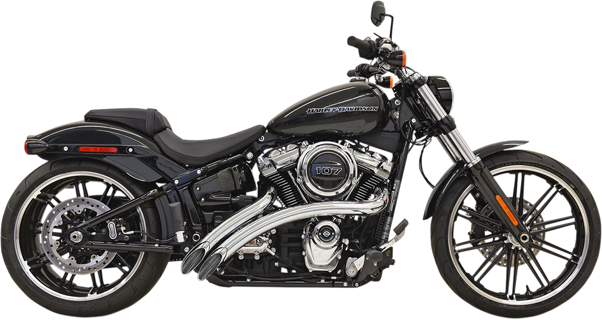 Bassani Chrome Radial Sweeper Exhaust 2018-2021 Harley Softail FXST FLSL FXBB