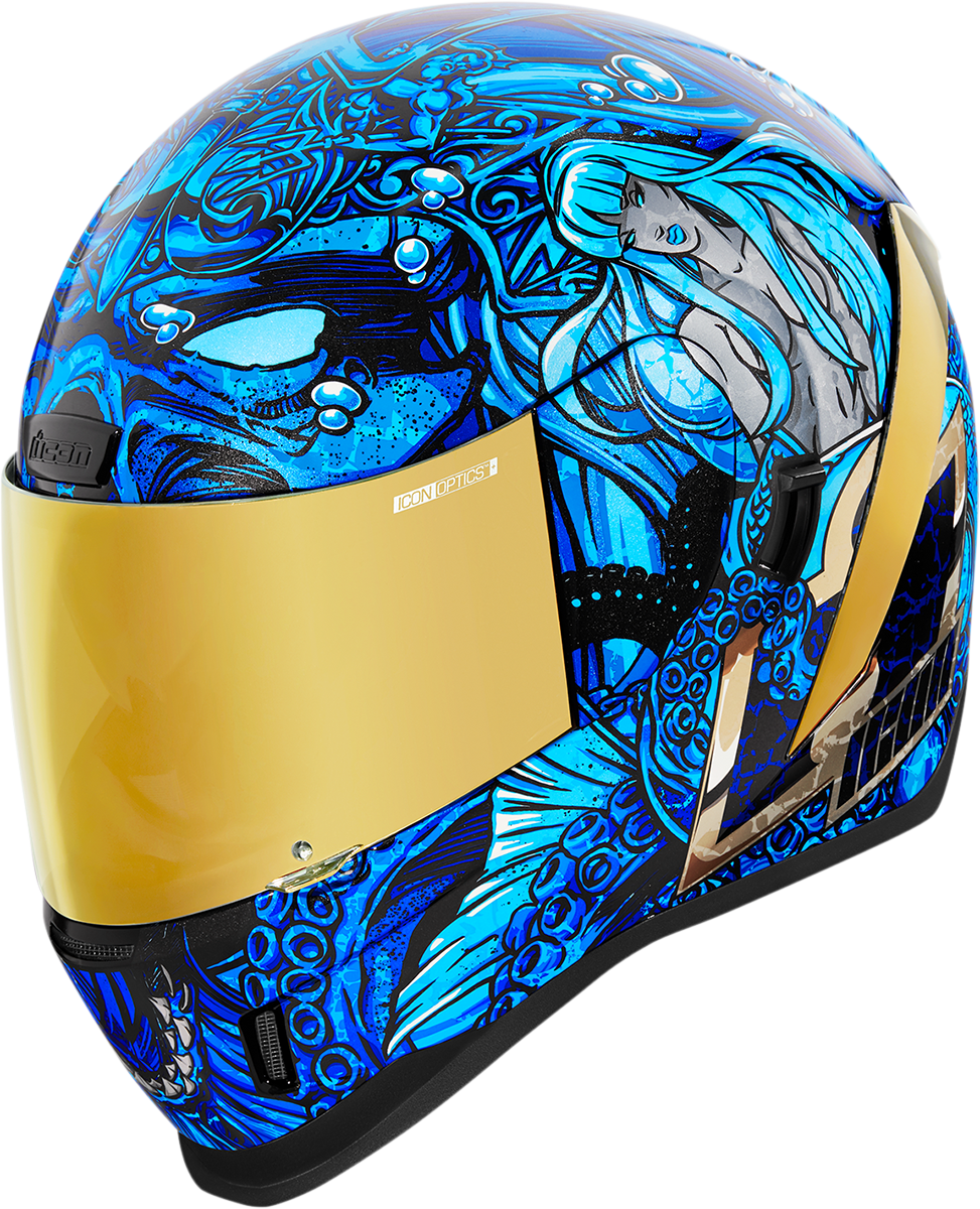 Icon Airfom Ships Company Unisex Fullface Motorcycle Riding Street Racing Helmet