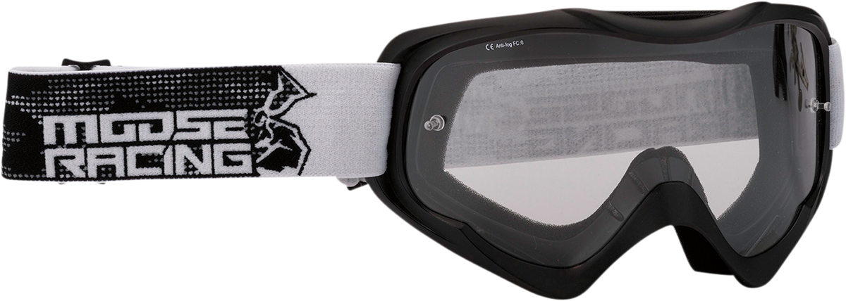Moose Qualifier Agroid Stealth Motorcycle Riding Dirt Bike Racing Goggles MX