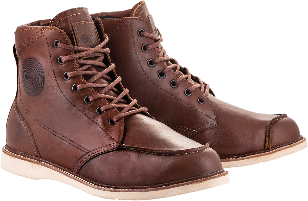 Alpinestars Oscar Monty v2 Brown Leather Motorcycle Riding Street Racing Boots