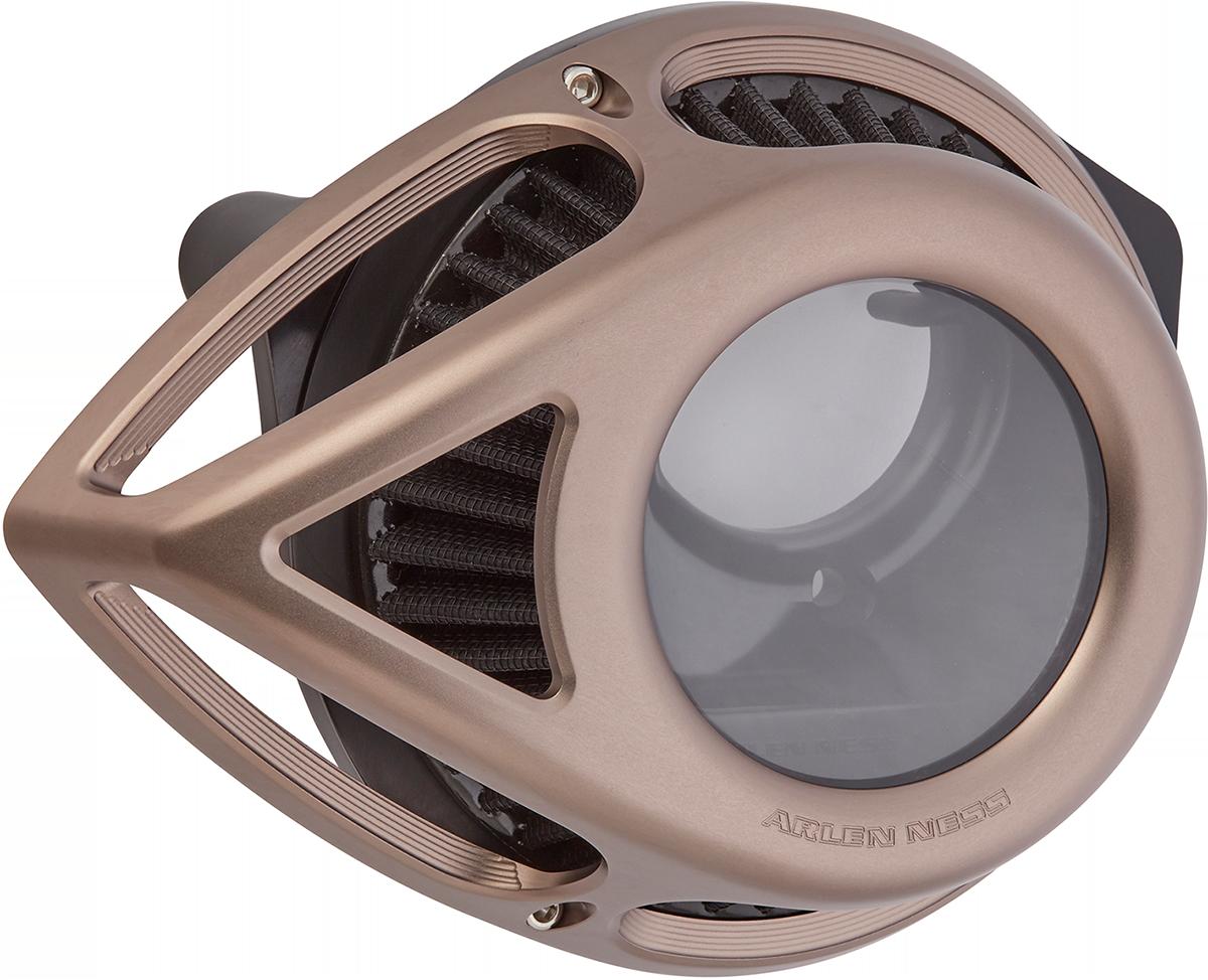 Arlen Ness Tear Titanium Clear Air Filter Cleaner 2008-2017 Harley Touring FLHX