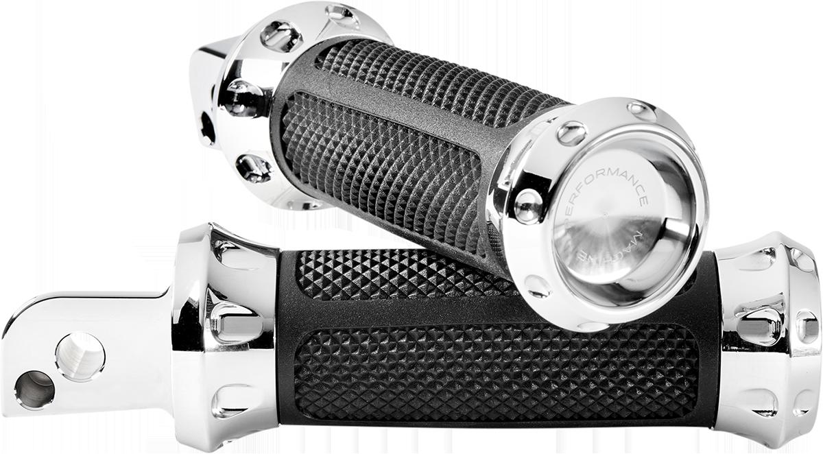 Performance Machine Over Drive Passenger Foot Pegs 2018-2020 Harley Softail