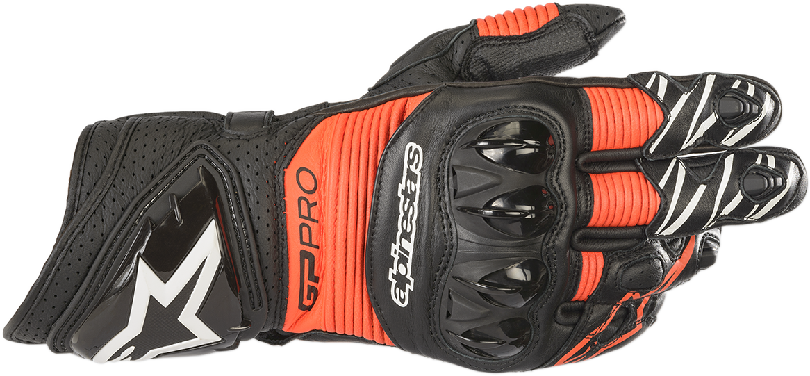 Alpinestars GP Pro R3 Mens Red Black Motorcycle Riding Street Racing Gloves