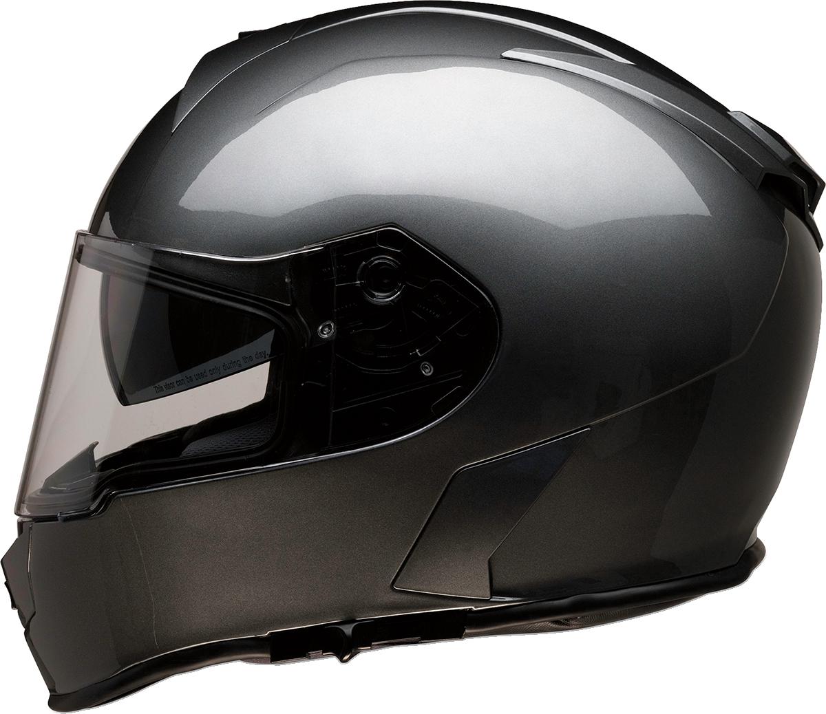 Z1R Warrant Unisex Dark Silver Full Face Motorcycle Riding Street Racing Helmet