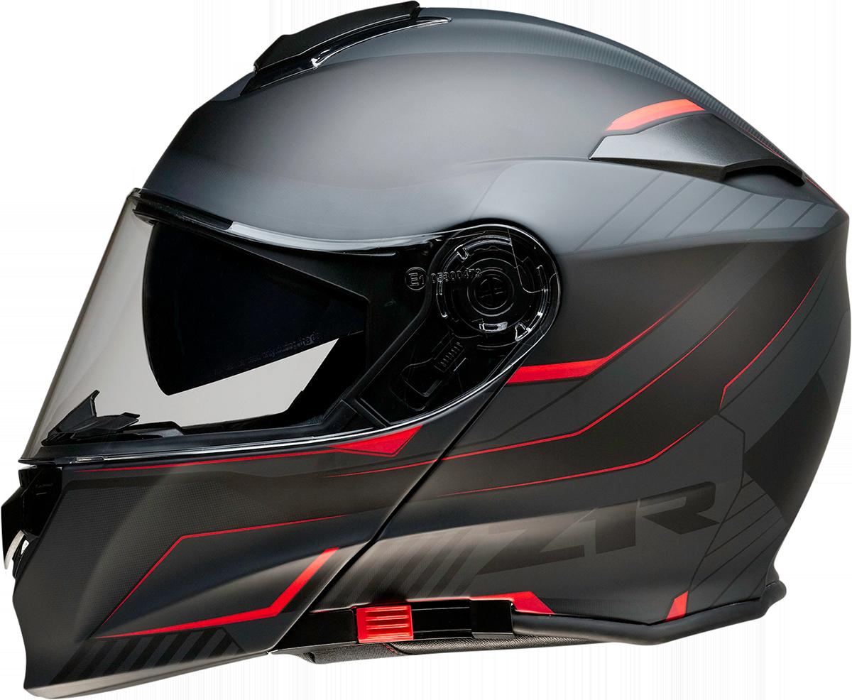 Z1R Scythe Black Red Modular Fullface Motorcycle Riding Street Racing Helmet