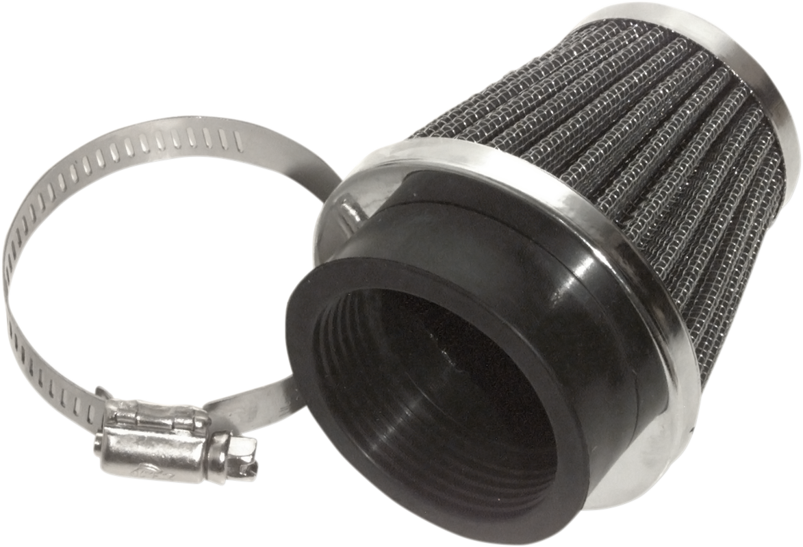 Emgo 48mm Stainless Mesh Universal Motorcycle Round Air Filter Clamp on Pod