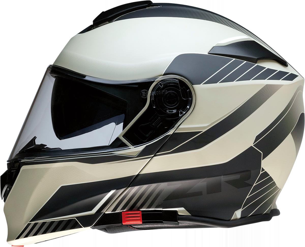 Z1R Scythe Black Tan Modular Fullface Motorcycle Riding Street Racing Helmet