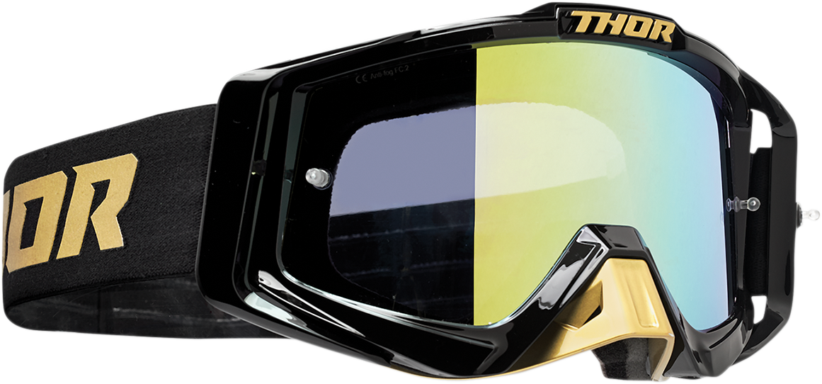 Thor Sniper Pro Unisex Gold Black Offroad Riding Dirt Bike Racing MX Goggles