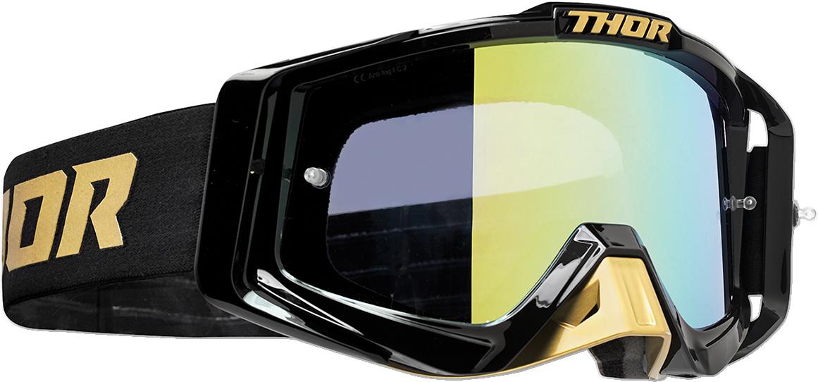 Thor Sniper Pro Unisex Gold Black Offroad Riding Dirt Bike Racing MX Goggles