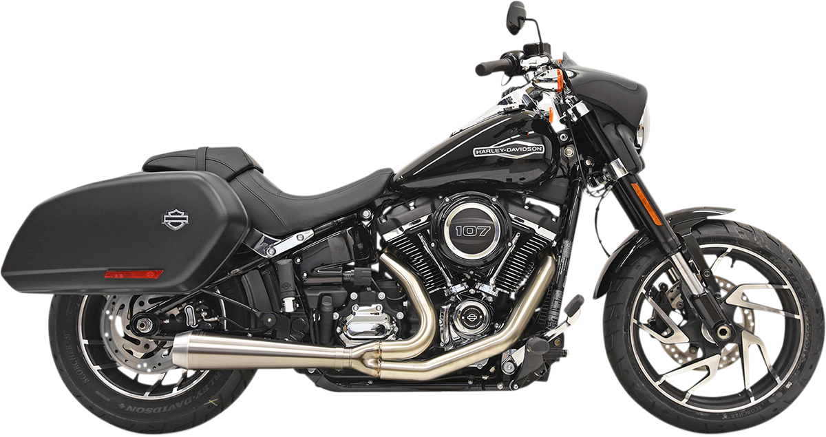 Bassani Road Rage Stainless Motorcycle Exhaust 18-21 Harley Softail Sport Glide