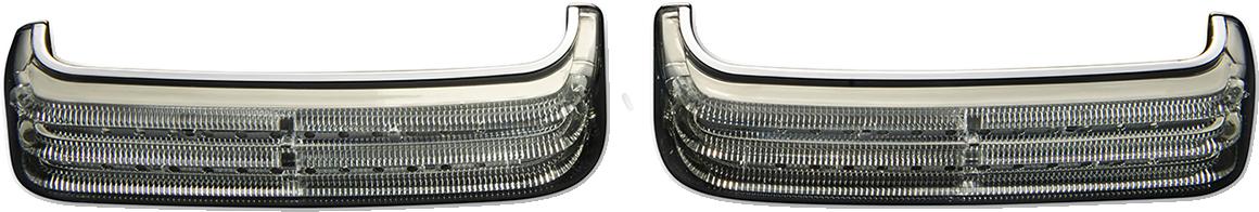 Custom Dynamics Chrome LED Sequential Saddlebag Lights 14-21 Harley Touring