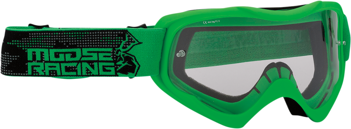 Moose Qualifier Agroid Green Motorcycle Riding Dirt Bike Racing Goggles MX
