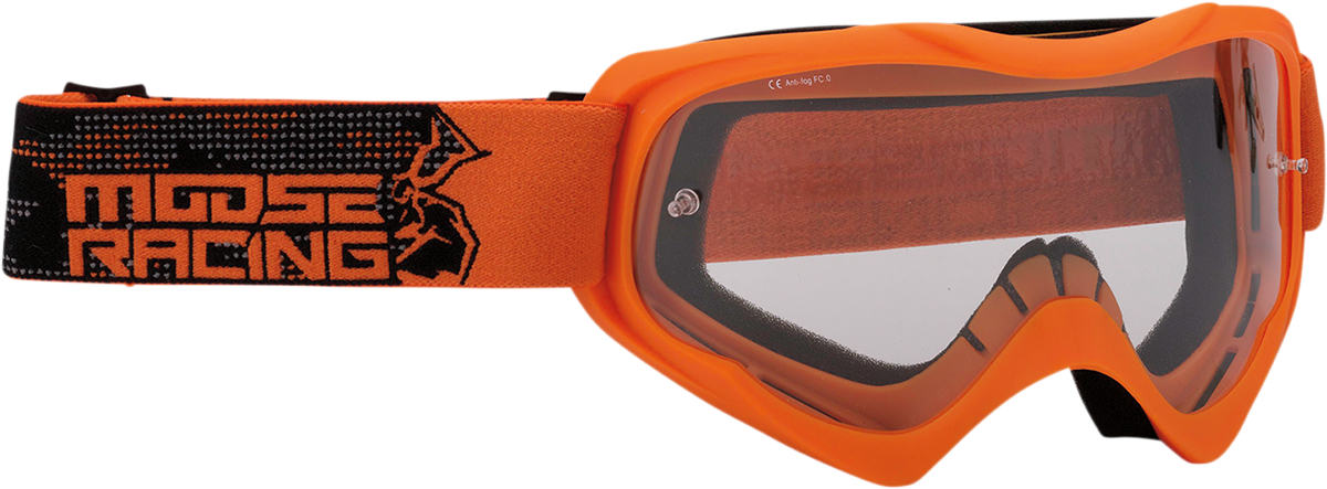 Moose Qualifier Agroid Orange Motorcycle Riding Dirt Bike Racing Goggles MX