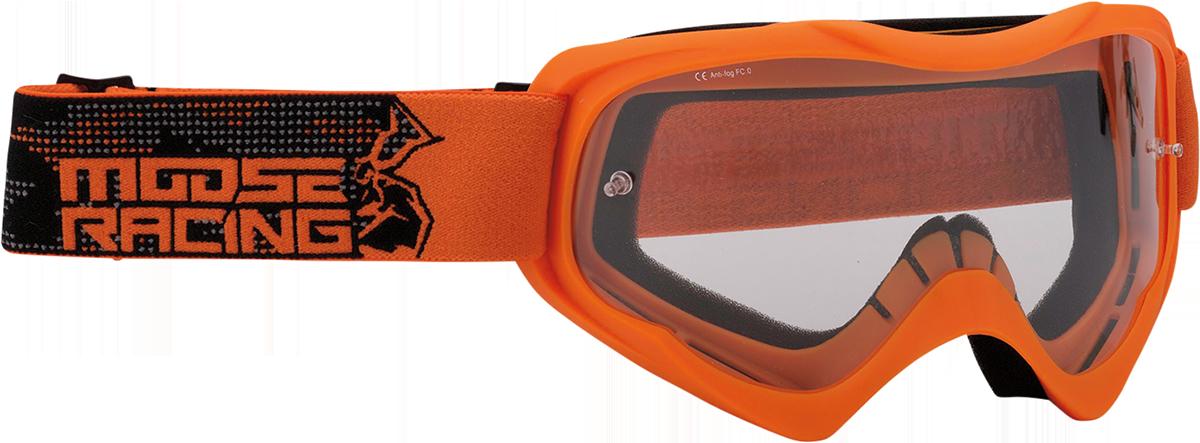 Moose Qualifier Agroid Orange Motorcycle Riding Dirt Bike Racing Goggles MX
