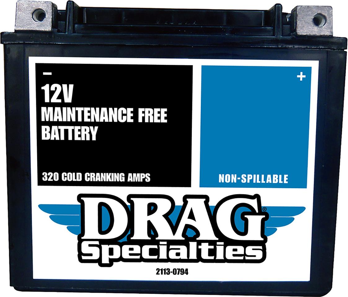 Drag Specialties Maintenance Free AGM Battery 1999-2021 Harley Dyna Softail FXSB
