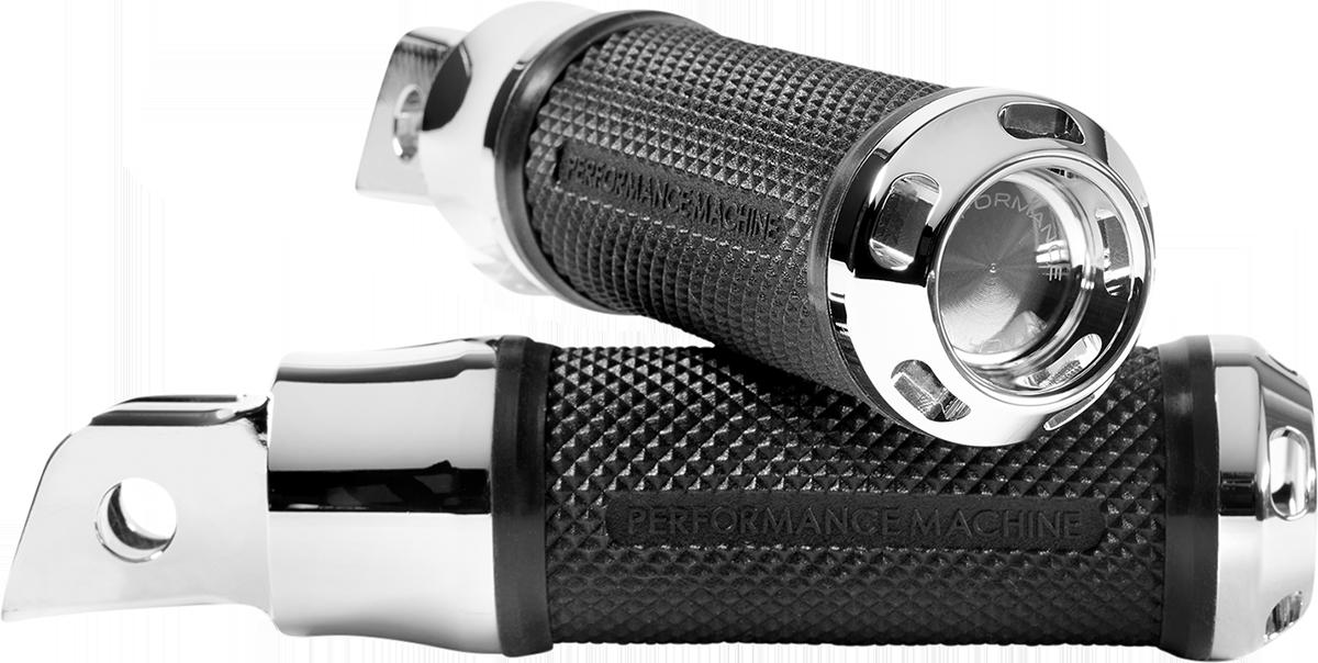 Performance Machine Apex Chrome Driver Footpegs 2018-2020 Harley Softail FLSL