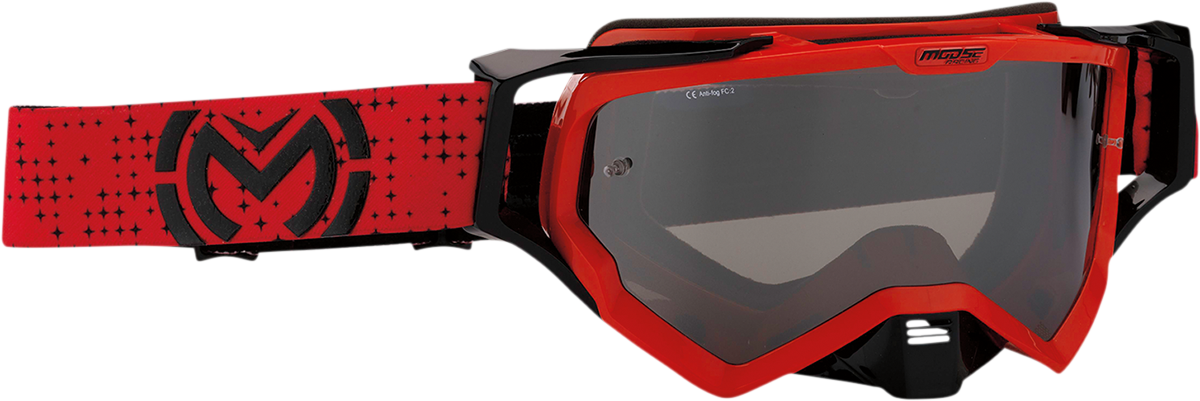 Moose XCR Pro Stars Red Black Offroad Riding Dirt Bike ATV MX Racing Goggles