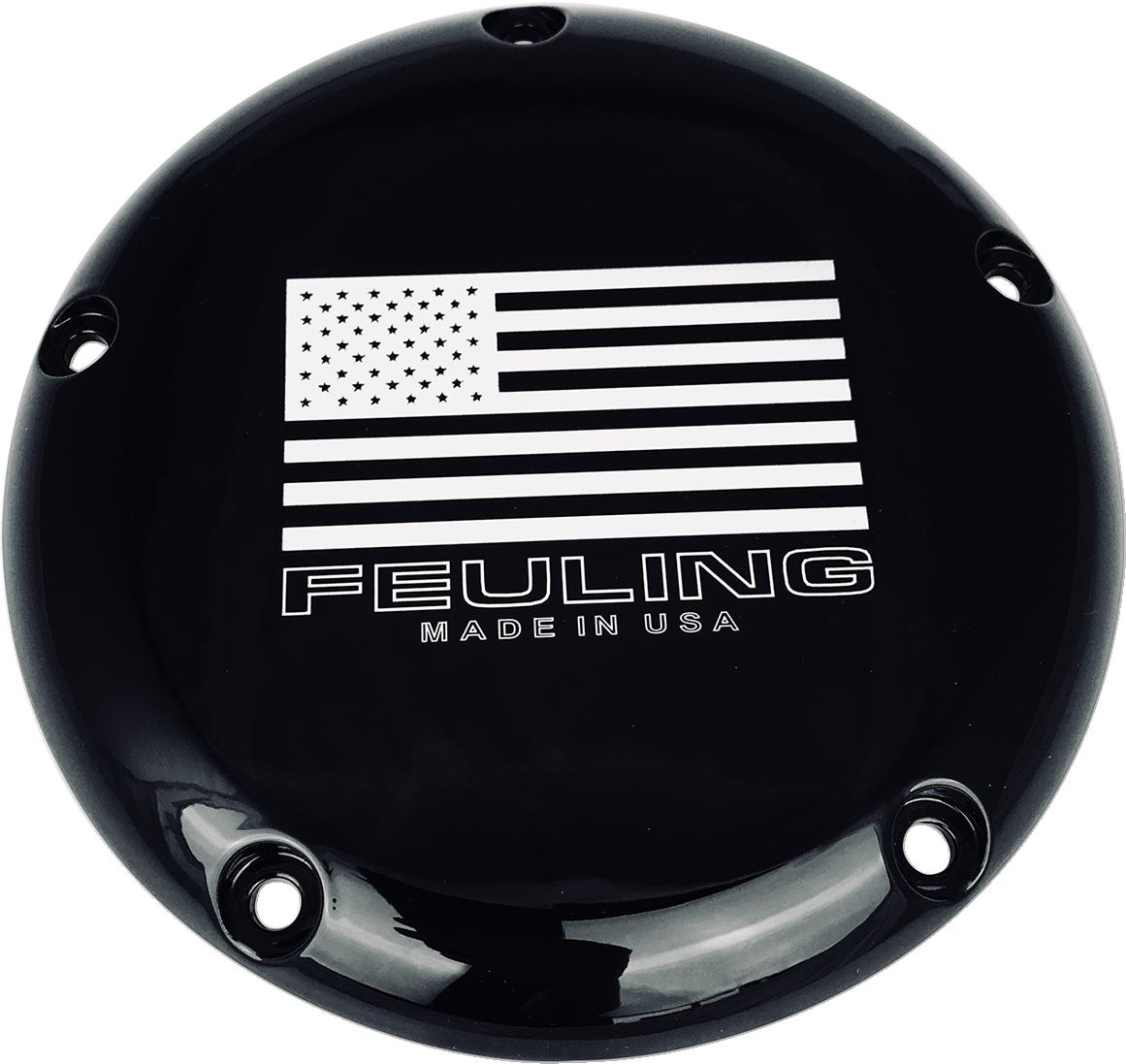 Feuling American 5 Hole Black Derby Cover 15-18 Harley Touring FLHR FLHX FLHTKL