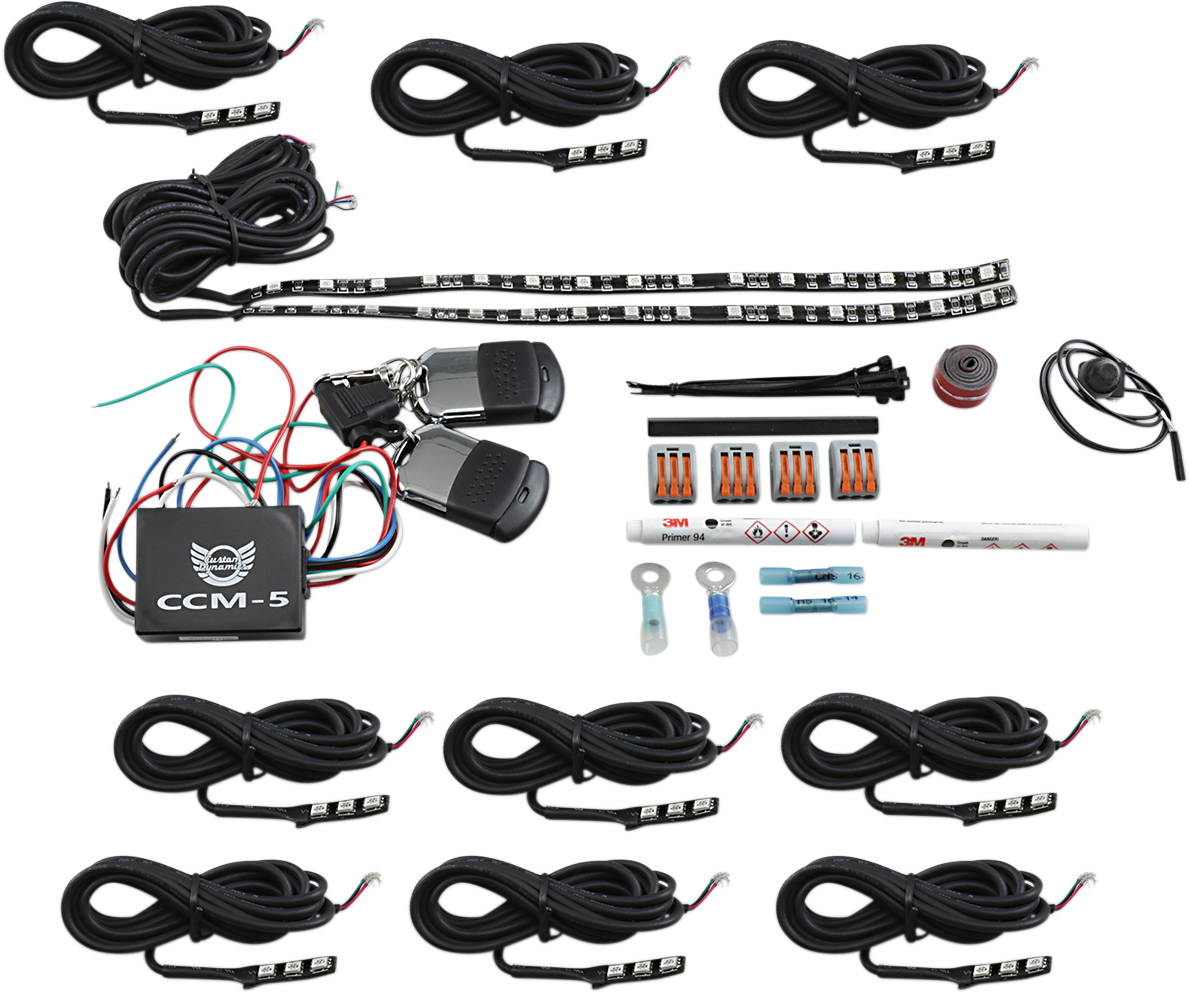 Custom Dynamics Magical Wizard Engine Motorcycle LED Accent Lighting Kit Indian