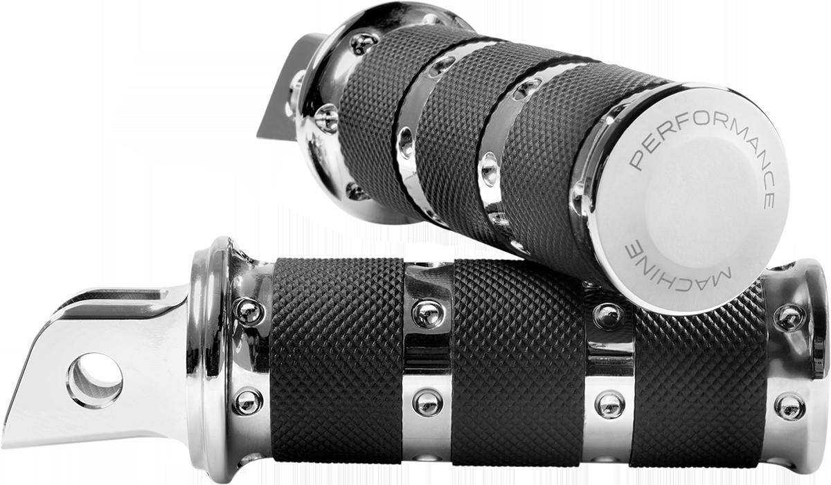 Performance Machine XLS Chrome Foot Pegs 2018-2020 Harley Softail FXFB FLSL FLHC