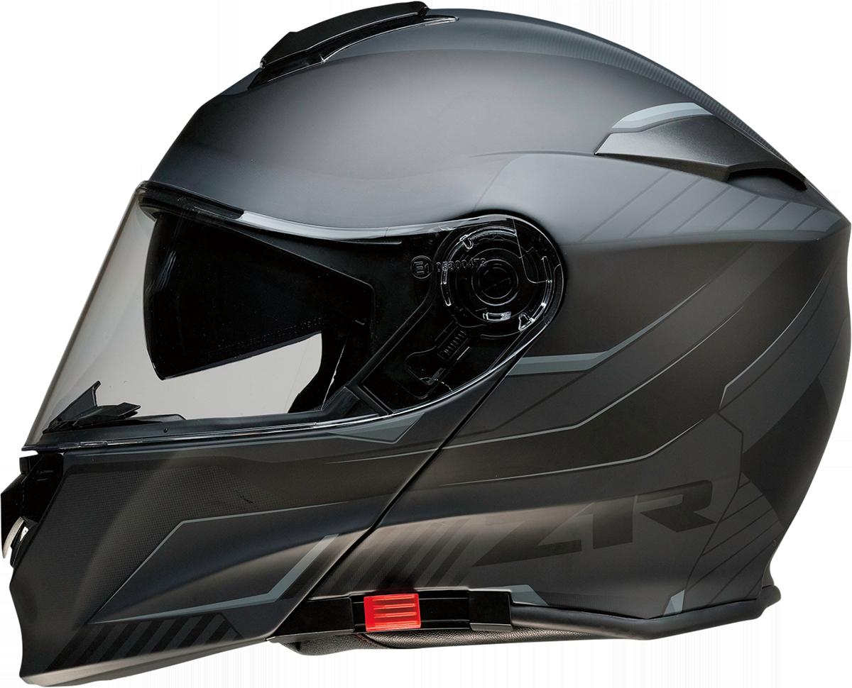 Z1R Scythe Black Gray Modular Fullface Motorcycle Riding Street Racing Helmet