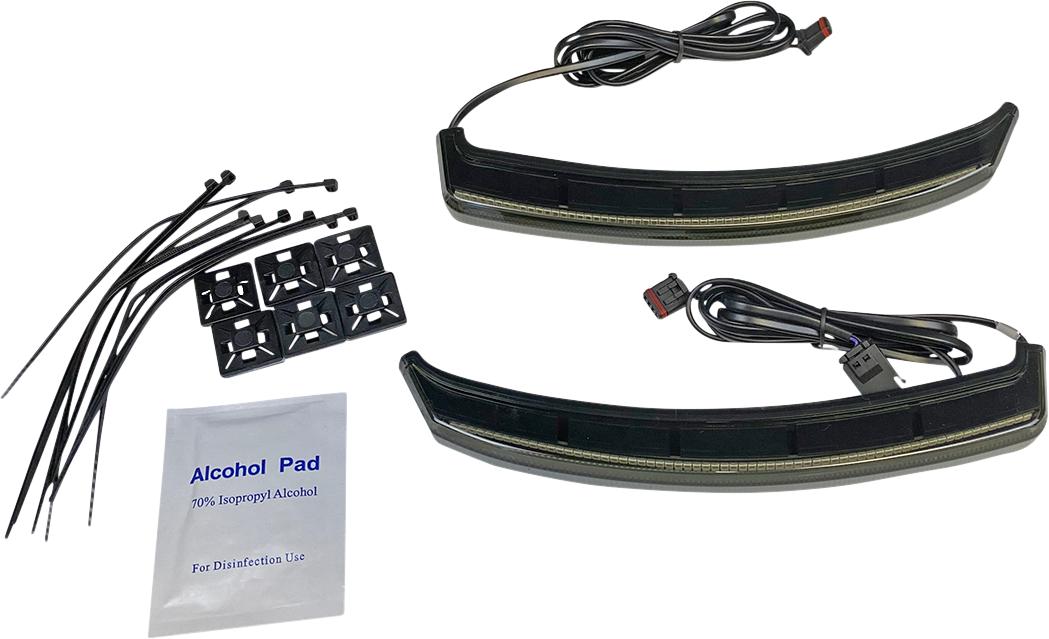 Custom Dynamics Black LED Saddlebag Lights 2019-21 Indian Challenger Dark Horse