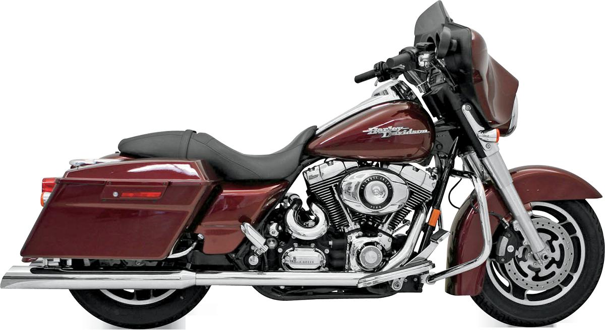 Bassani Chrome Value Motorcycle Slip on Mufflers 1995-2016 Harley Touring FLHX