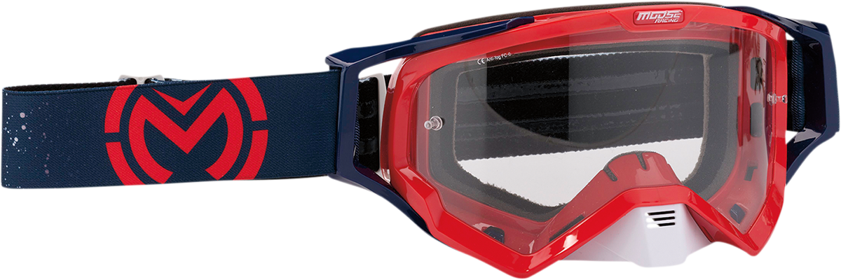 Moose XCR Galaxy Red Navy Motorcycle Riding Dirt Bike Racing Goggles MX