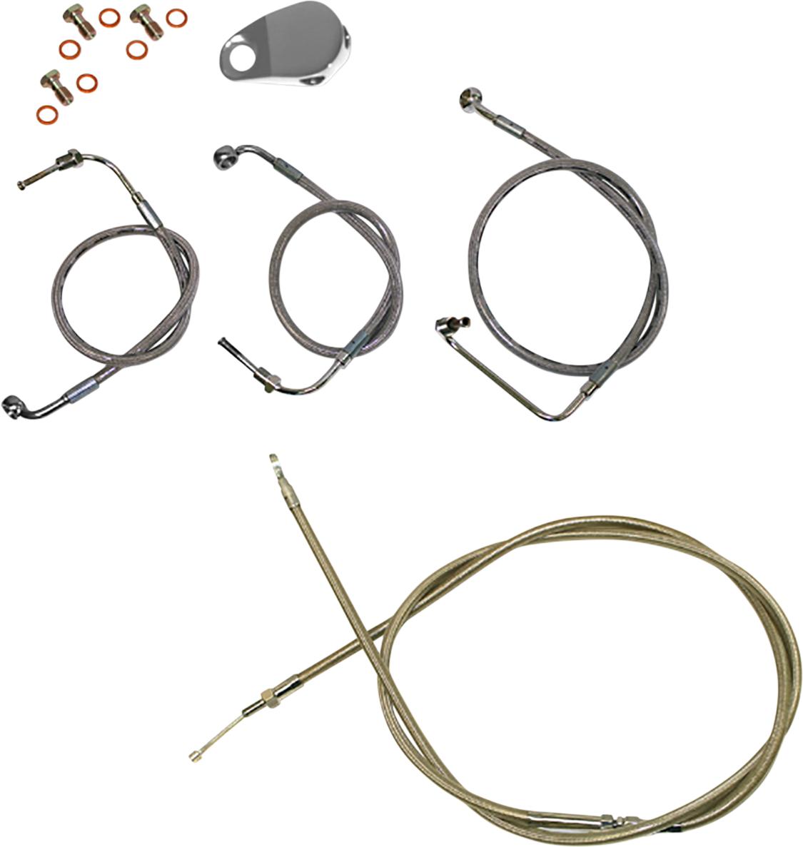 "La Choppers 12""-14"" Ape Hanger Handlebar Cable Kit 2018-2021 Harley Softail FXFB"