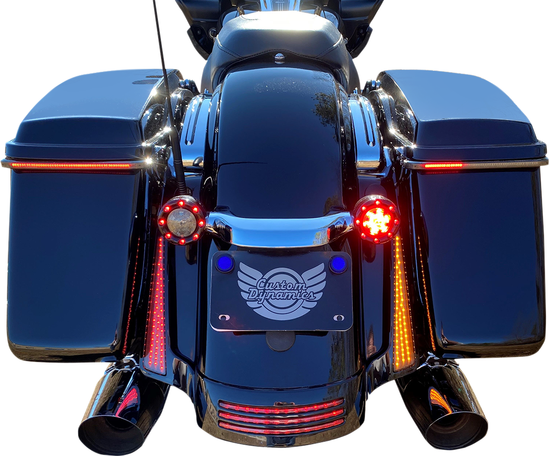 Custom Dynamics Black Dual Color Fascia LED Panel Lights 06-09 Harley Touring