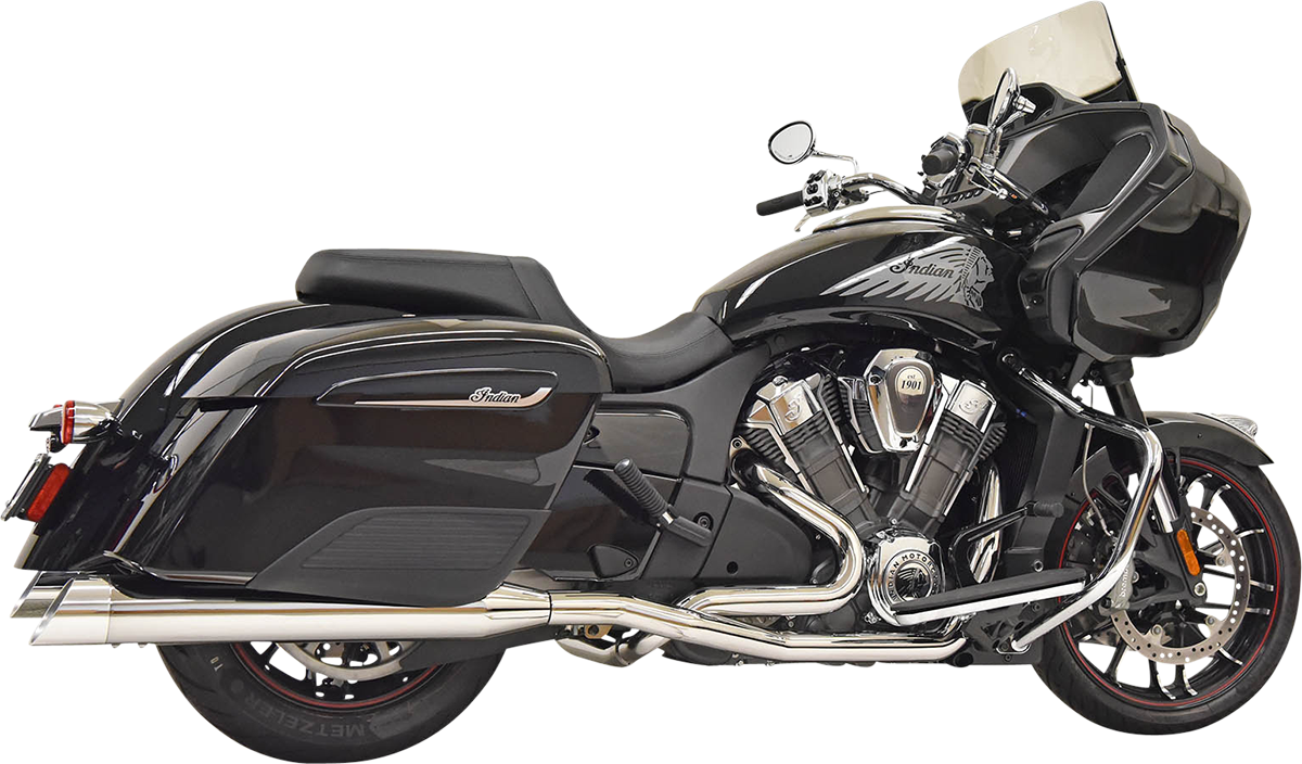 Bassani Chrome True Dual Exhaust System 20-21 Indian Challenger Dark Horse