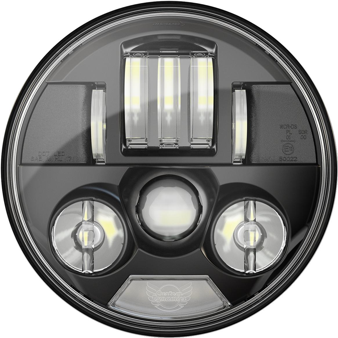 "Custom Dynamics Probeam 7"" Black LED Headlight 2014-2021 Indian Chieftain Chief"