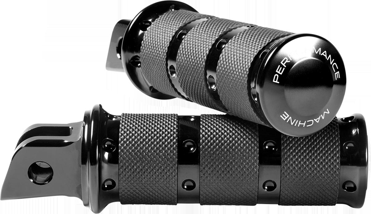 Performance Machine XLS Black Foot Pegs 2018-2020 Harley Softail FXFB FLSL FLHC