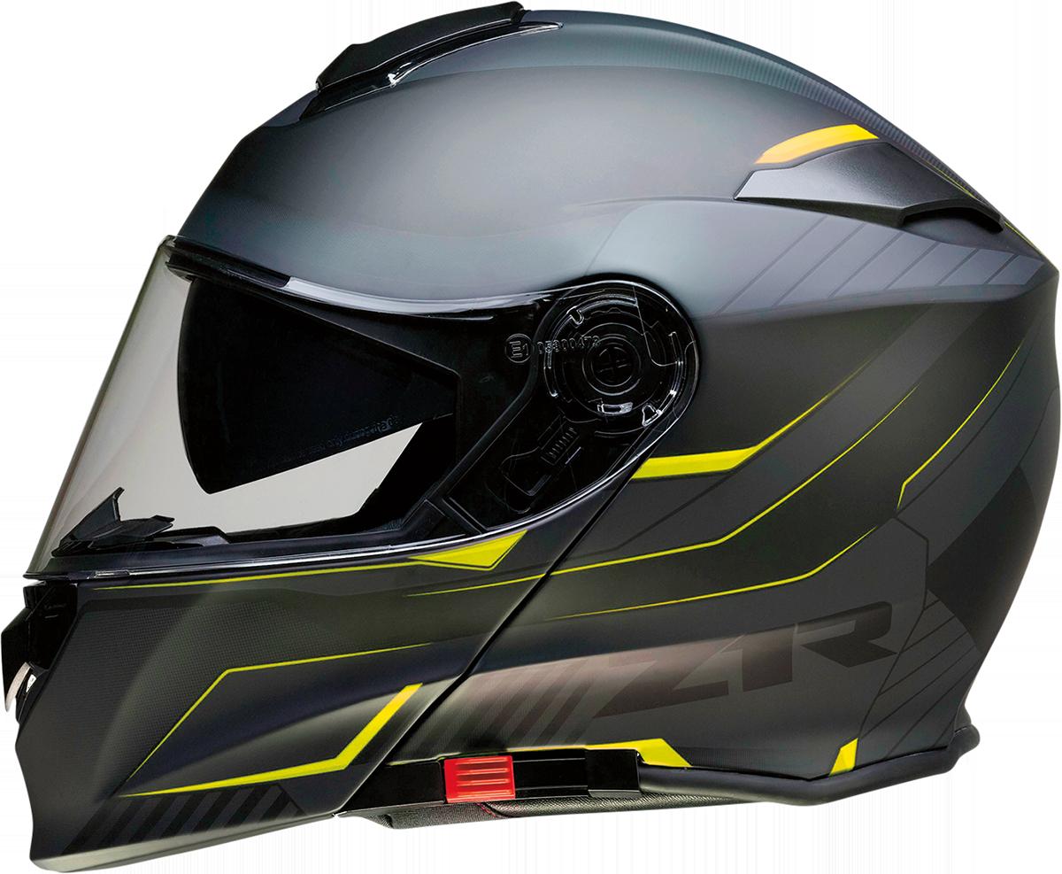 Z1R Scythe Black Hi-Viz Modular Fullface Motorcycle Riding Street Racing Helmet
