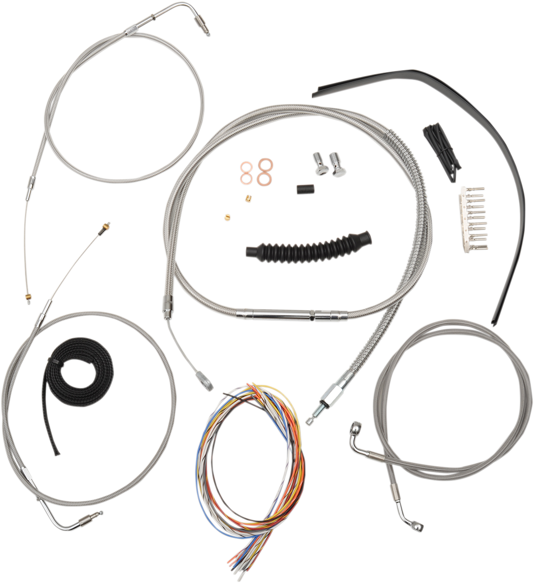 La Chopper Stainless Braided Handlebar Cable Kit 13-19 Harley ABS Sportster XLN