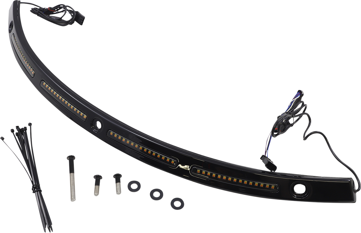 Custom Dynamics Black LED Fairing Windshield Trim 2014-2021 Harley Touring FLHX