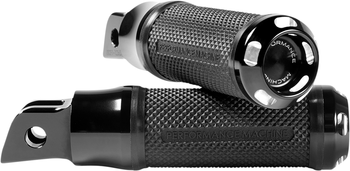 Performance Machine Apex Driver Footpegs Black 2018-2020 Harley Softail FLSL