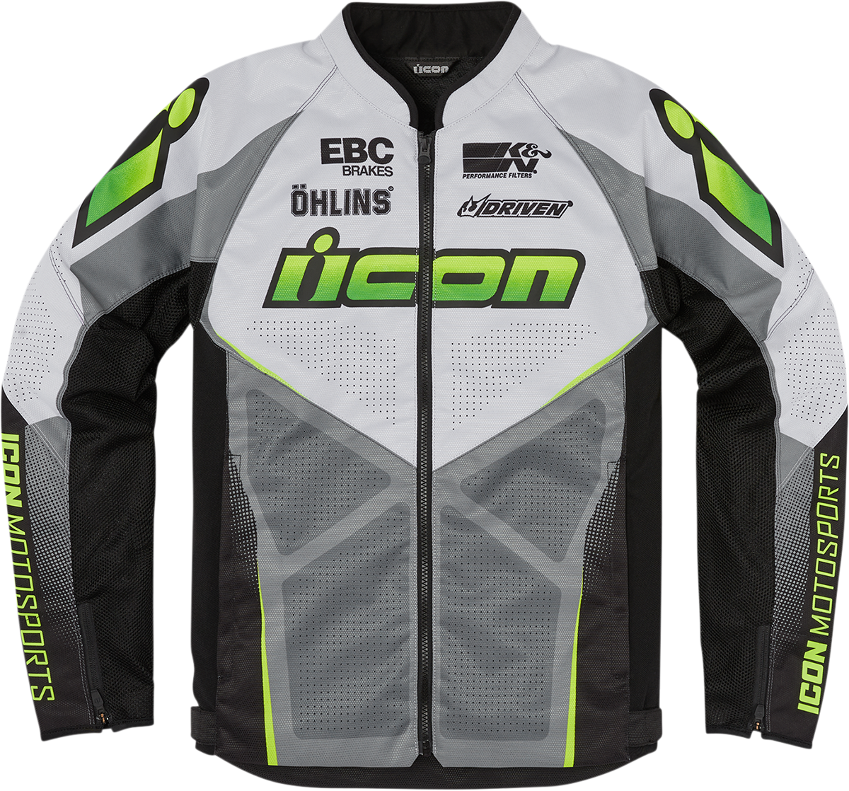 Icon Hooligan Ultrabolt Mens Hi-Viz  Motorcycle Riding Street Racing Jacket