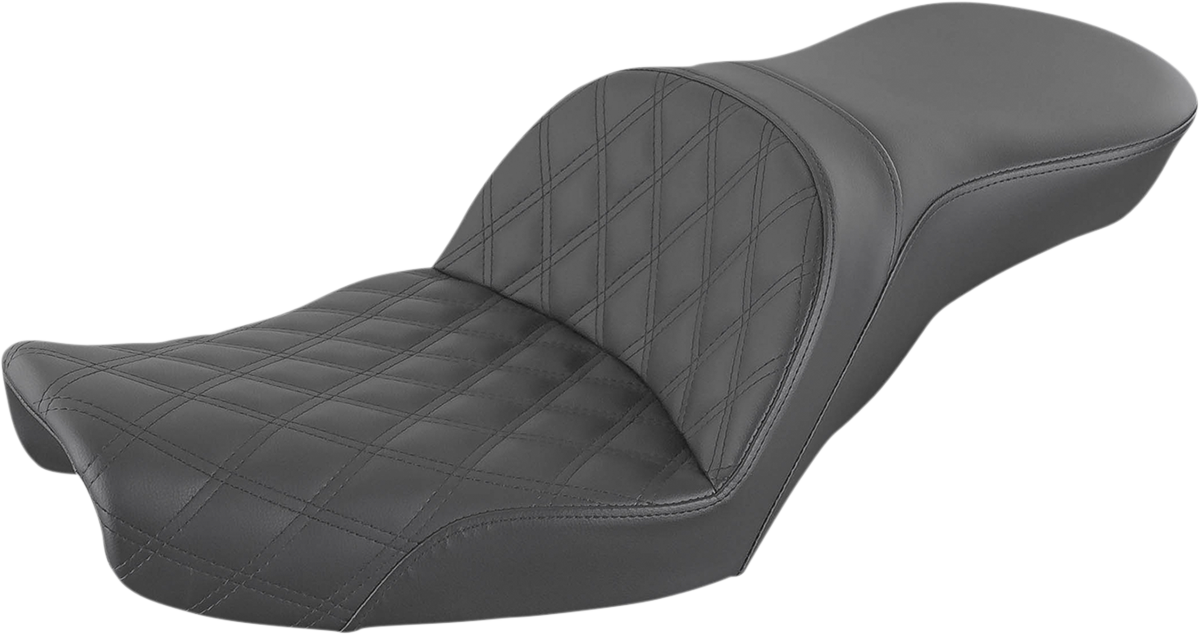 Saddlemen Explorer LS Black 2 Up Motorcycle Seat 96-03 Harley Dyna FXD FXDL FXDX