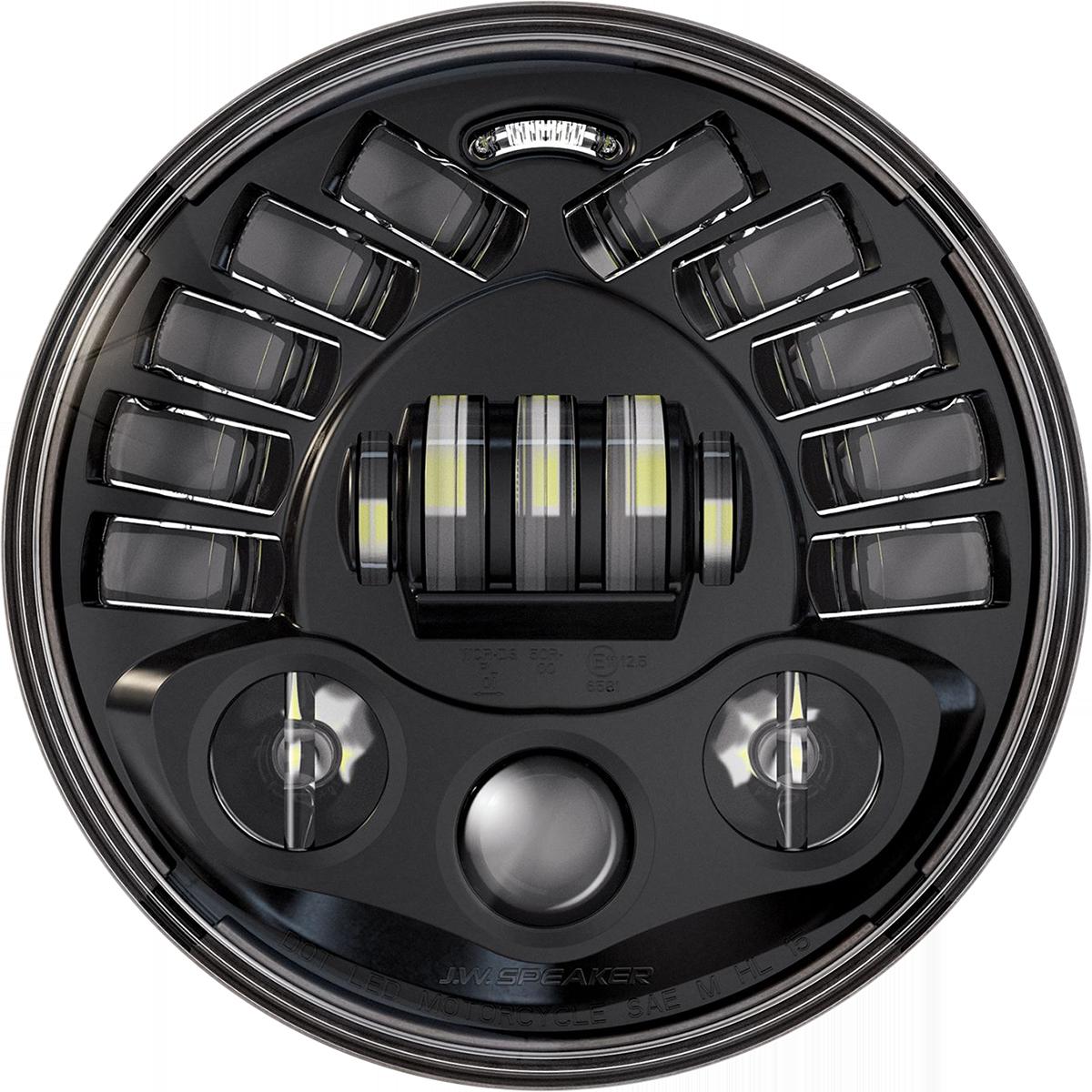 "Custom Dynamics 7"" Adaptive Black Headlight 2014-21 Indian Challenger Chieftain"