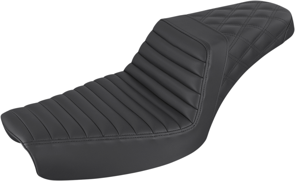 Saddlemen Step Up Tuck N Roll LS Motorcycle Seat 96-03 Harley Dyna FXDWG FXD