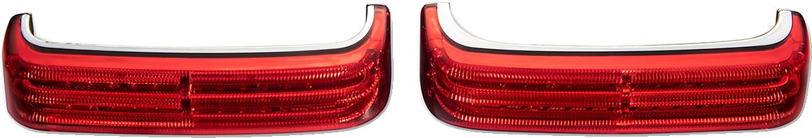 Custom Dynamics LED Sequential Low Profile Saddlebag Lights 14-21 Harley Touring
