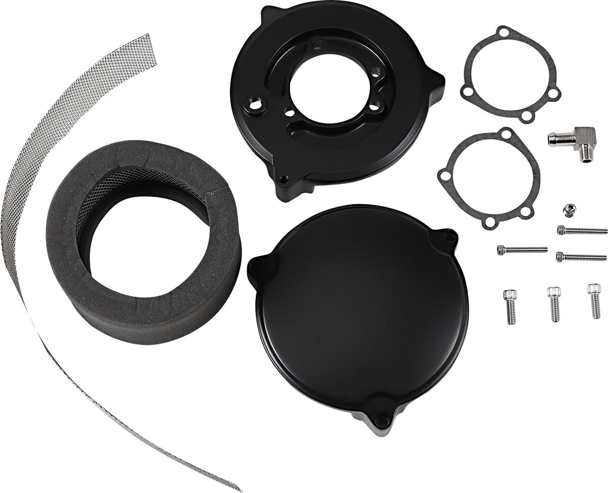 Drag Specialties Black Dragtron II Air Cleaner Filter Kit 1988-2006 Harley