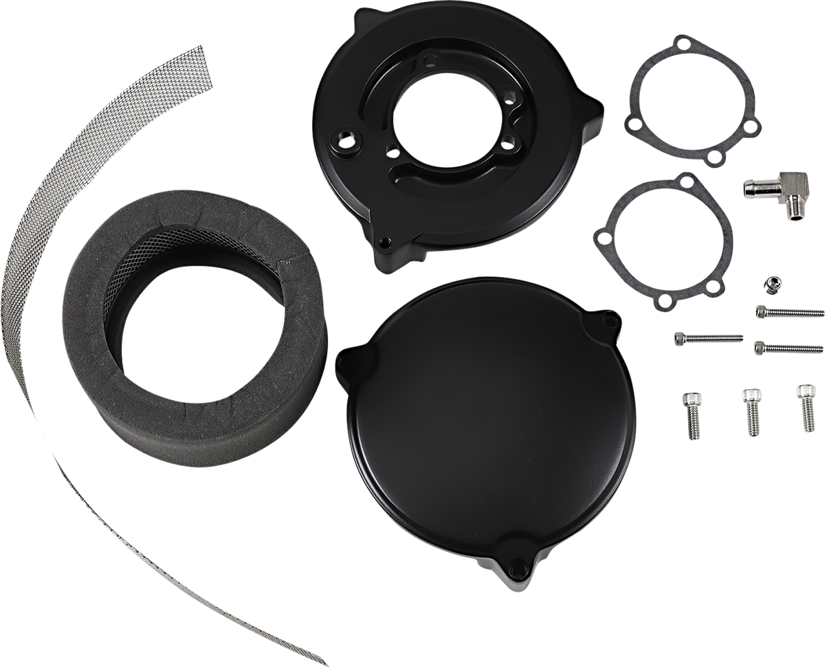 Drag Specialties Black Dragtron II Motorcycle Air Cleaner Filter Kit for Harley
