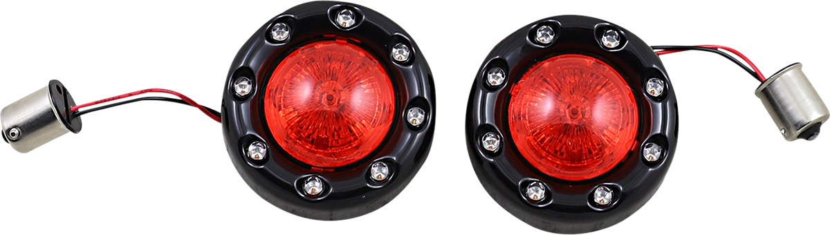 Custom Dynamics Black 1156 Rear Bullet Turn Signals 2021 Harley Softail Touring