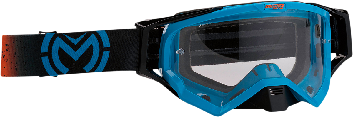 Moose XCR Galaxy Black Blue Motorcycle Riding Dirt Bike Racing Goggles MX