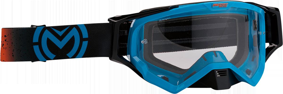 Moose XCR Galaxy Black Blue Motorcycle Riding Dirt Bike Racing Goggles MX