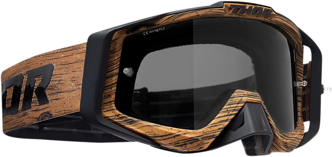 Thor Sniper Pro Unisex Woody Brown Offroad Riding Dirt Bike Racing MX Goggles