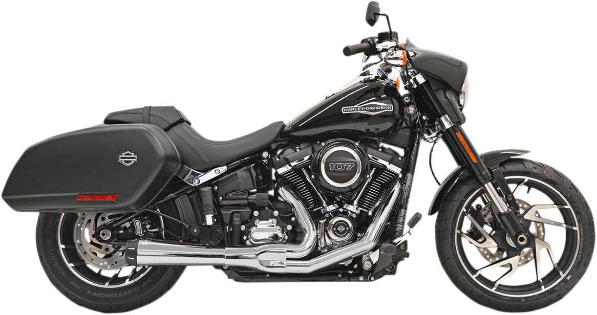 Bassani Road Rage Chrome Motorcycle Exhaust 18-21 Harley Softail Sport Glide
