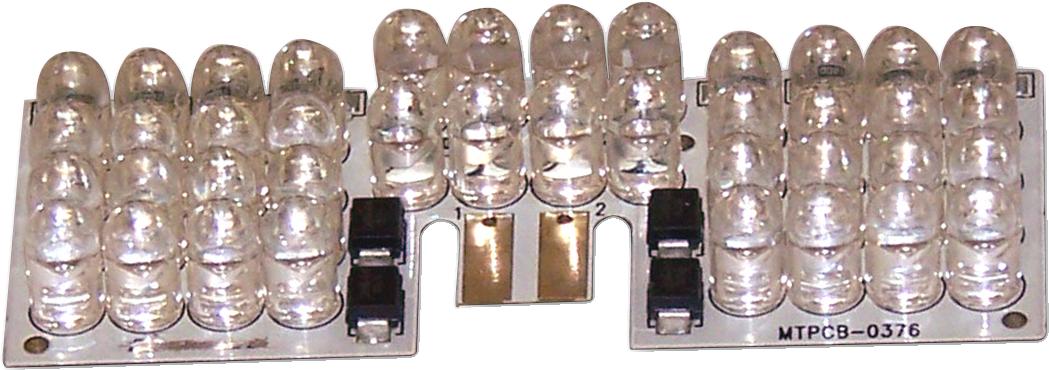Custom Dynamics Red LED Front Fender Tip Light Board 1983-2017 Harley Touring